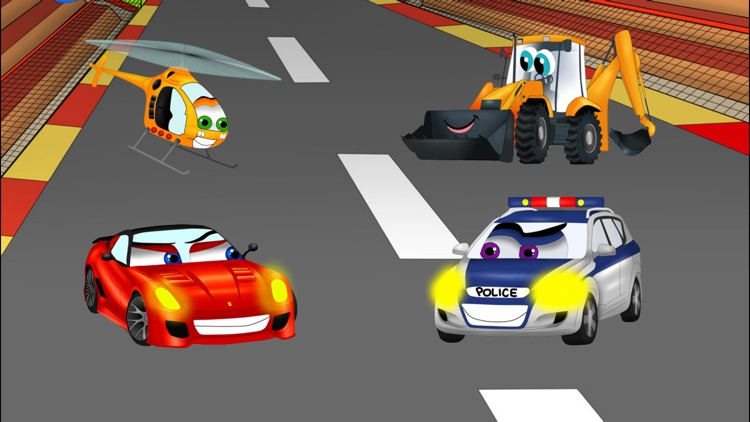 Cars road maze - funny free educational shape matching game for kids, boys, toddlers and preschool