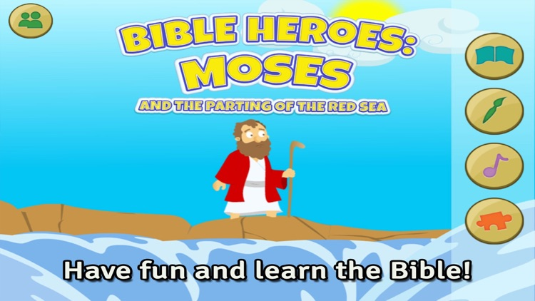 Moses and the Parting of the Red Sea: Bible Heroes - Teach Your Kids with Stories, Songs, Puzzles and Coloring Games! screenshot-0