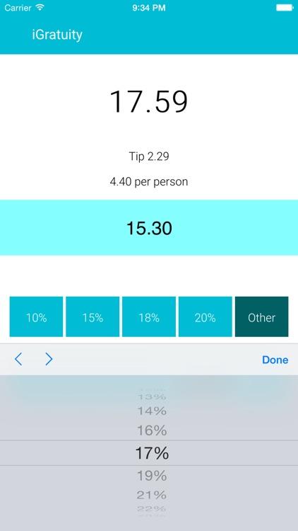 iGratuity - Tip Calculator