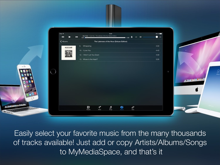 MyAudioStream HD Pro UPnP audio player and streamer for iPad