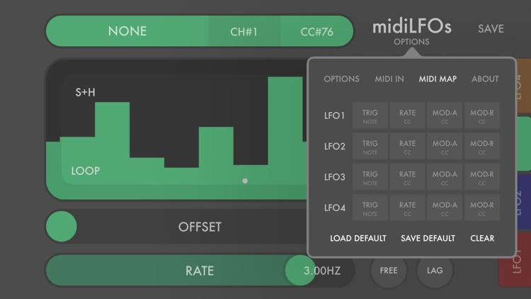 midiLFOs - midi modulation toy