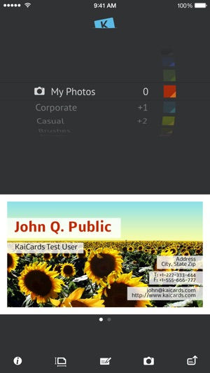 Kaicards pro business card maker on the app store reheart Choice Image