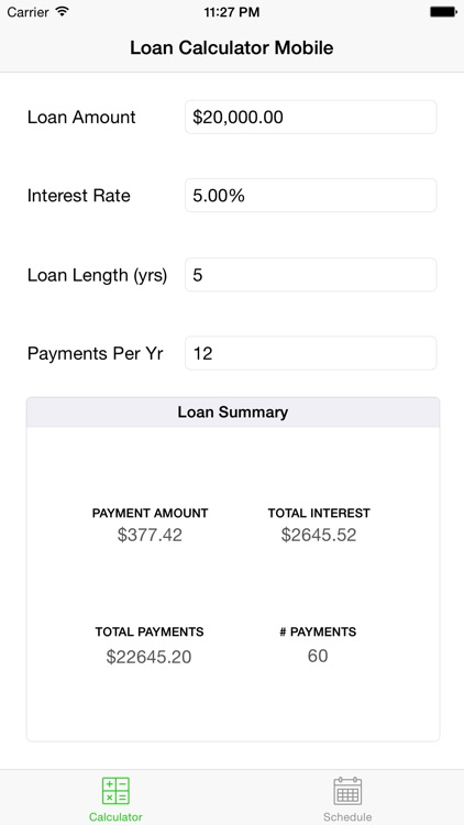Loan Calculator Mobile