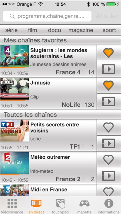 TVcommande d'Orange screenshot-1
