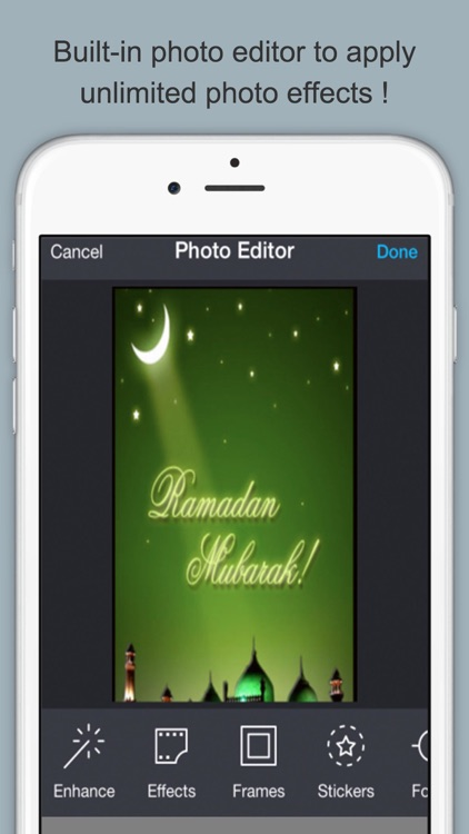 Happy Ramadan Mubarak.Create and Send Ramadan Greeting Cards With Text and Voice Message screenshot-1