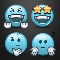 Blue Smiley Minis Keyboard by Emoji World