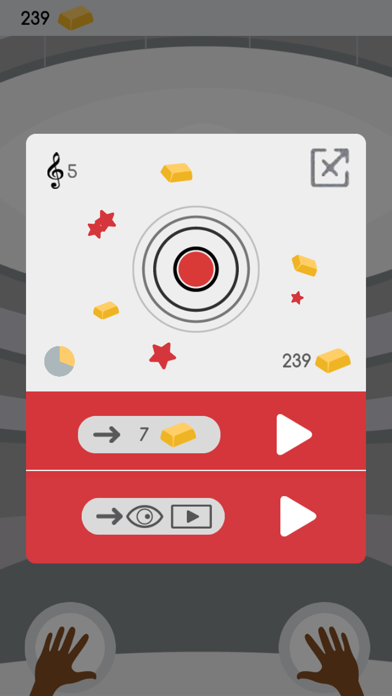 Percussion: rhythmic tap tap game