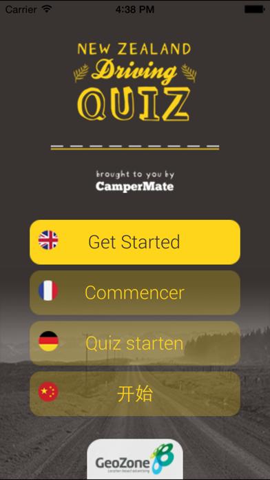 NZ Driving Quiz screenshot one