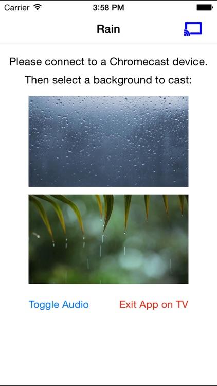 Rainy Window on TV for Chromecast