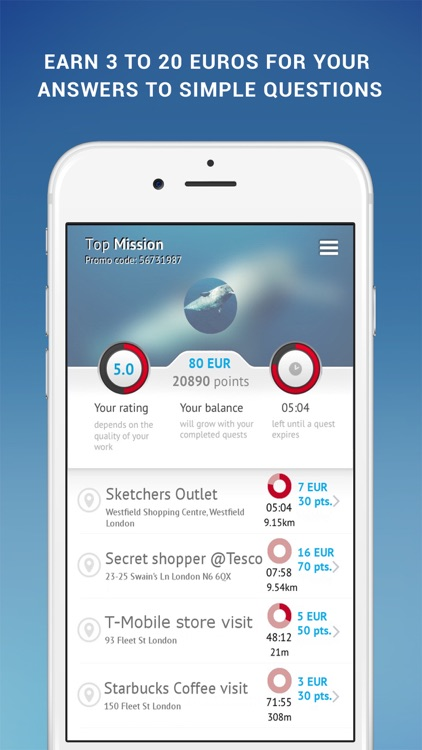TopMission — earn money with your smartphone