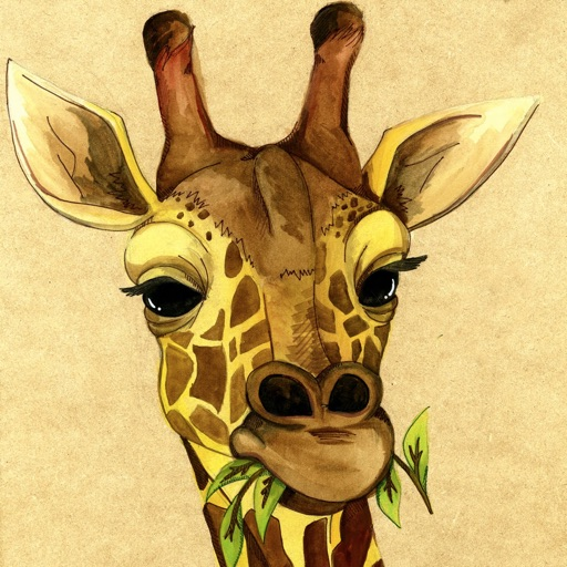 Best HD Giraffe Art Wallpapers for iOS 8 Backgrounds: Animal Theme Pictures Collection