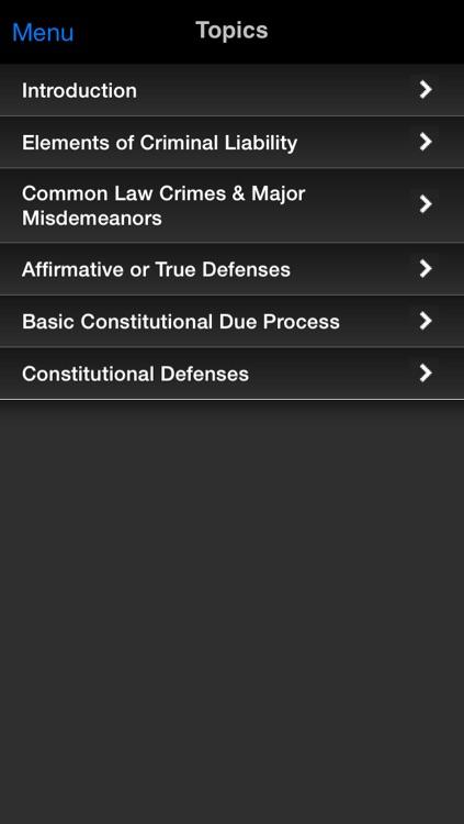 Criminal Law: Supreme Bar Review