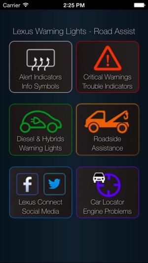lexus warning symbols
