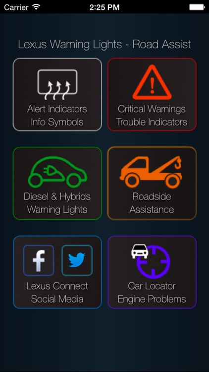 App for Lexus with Lexus Warning Lights