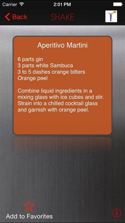 SHAKE : Martini Recipes