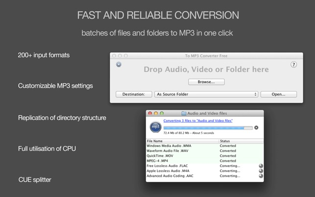 To MP3 Converter Free on the Mac App Store