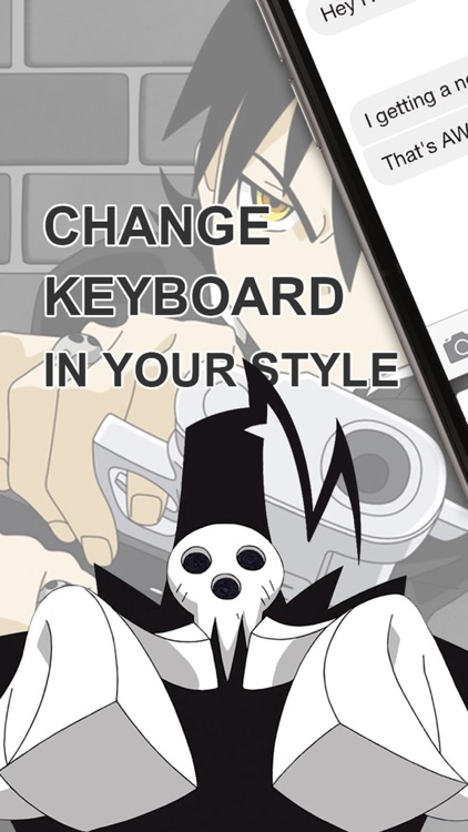 "Custom Keyboard Cartoon Anime Manga : "" Soul Eater Edition "" Custom Color & Wallpaper Themes"