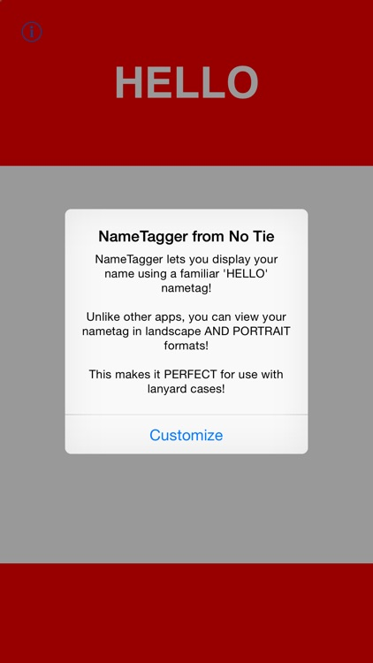 NAMETAGGER Fun, Funny NameTag w/ Name & Title! Landscape, Portrait & Watch Modes screenshot-4