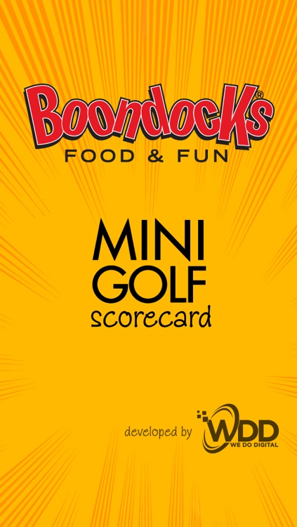 Boondocks Mini Golf Scorecard