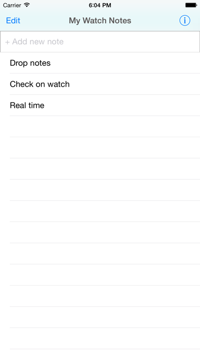 Quick Notes for iPhone & Watch screenshot one