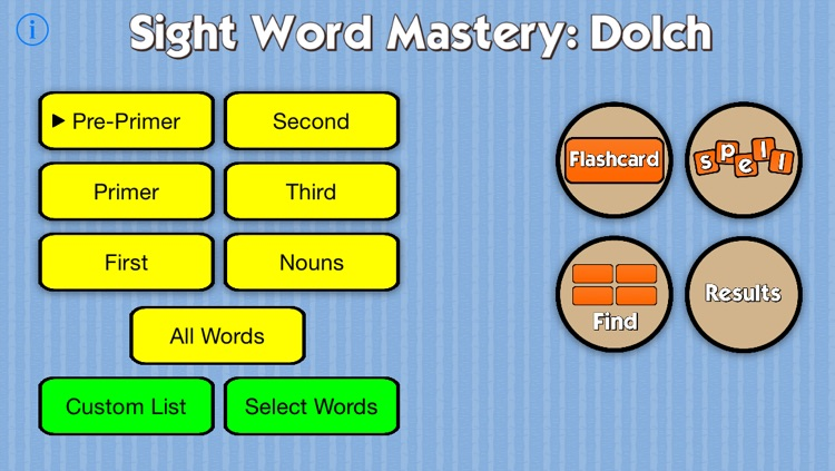 Sight Word Mastery: Dolch