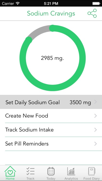 Sodium Cravings – Control blood pressure with Sodium Tracker that manages salt food craving and enables healthy food choices screenshot-0