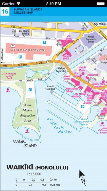 Hawaiian islands. Tourist map screenshot-4