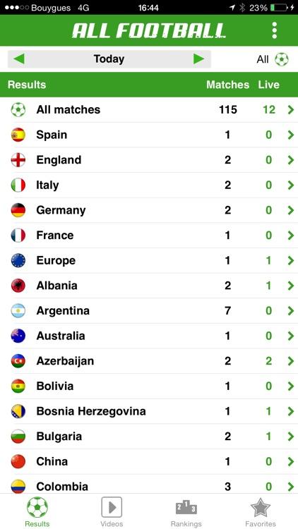 All Football - Live Soccer Scores, League standings, Videos and Livescore screenshot-4