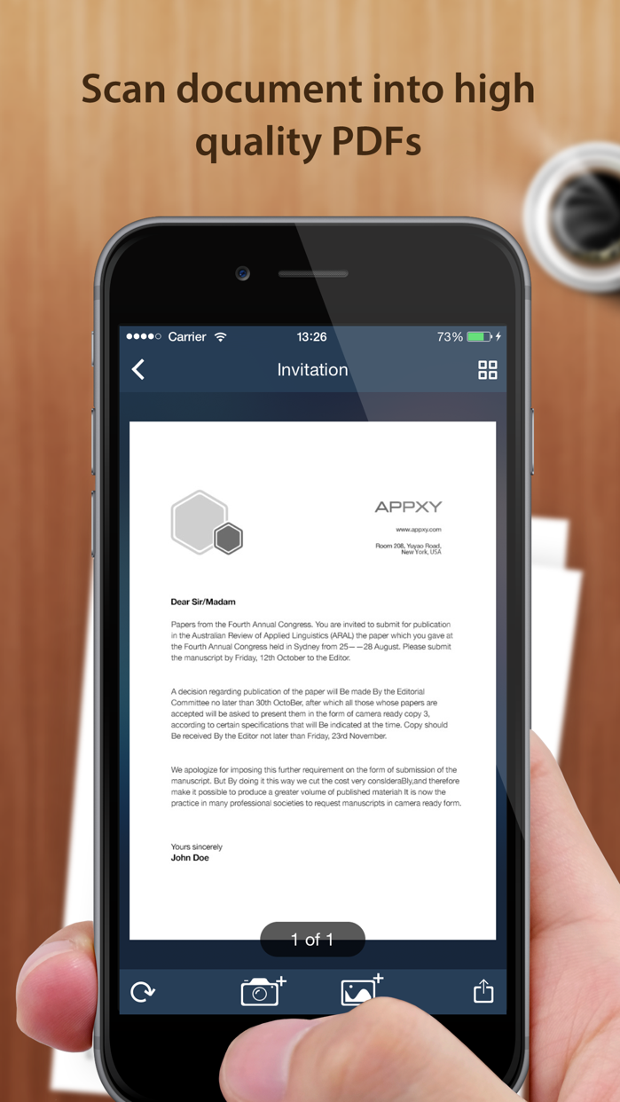 Tiny Scanner - PDF scanner to scan document, receipt & fax Screenshot