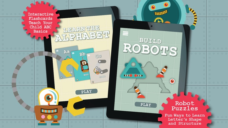 Alphabots ABC - Alphabet learning games & activities for preschool kids