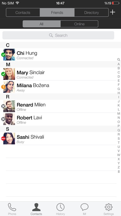 Nteract Mobile Unified  Communications for iPhone screenshot-3