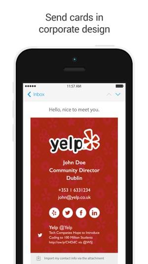 Clinck digital business cards on the app store colourmoves