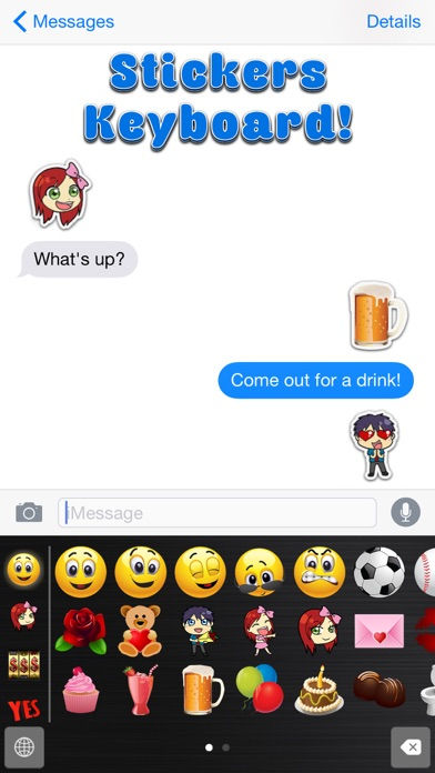 Big Emoji Keyboard - Stickers for Messages, Texting & Facebook-1