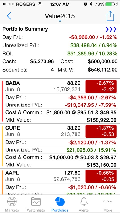 Stock Alert : real-time quotes & finance news screenshot-4