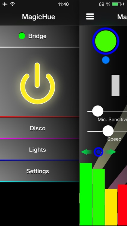 MagicHue the disco effect and color fading app for Philips hue