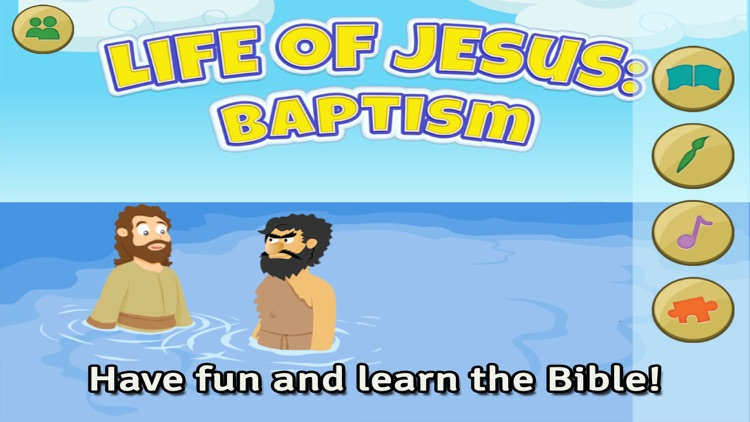 Life of Jesus: Baptism - Bible Story, Coloring, Singing, and Puzzles for Kids