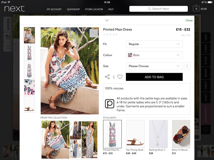 Next for iPad - Fashion & Homeware Shopping screenshot-3