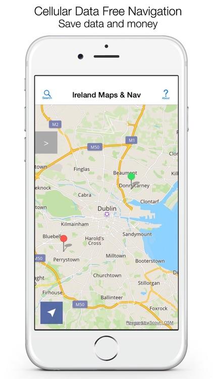 Ireland Offline Maps and Offline Navigation screenshot-0