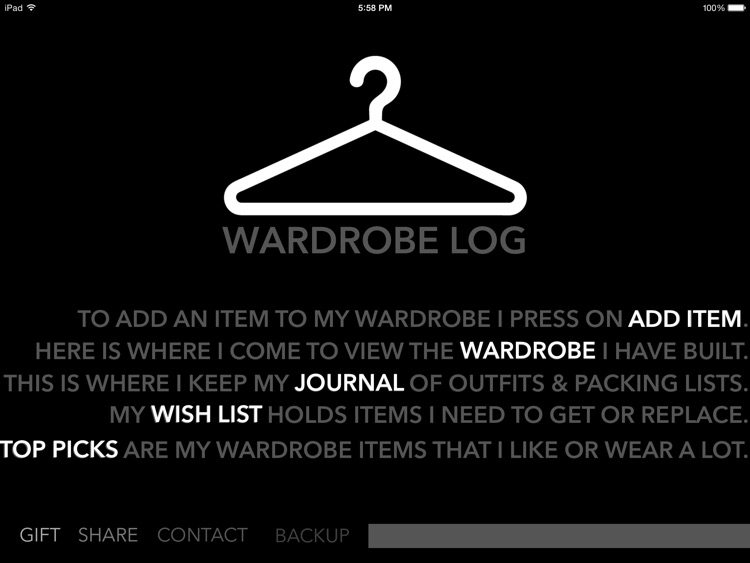 Wardrobe Log