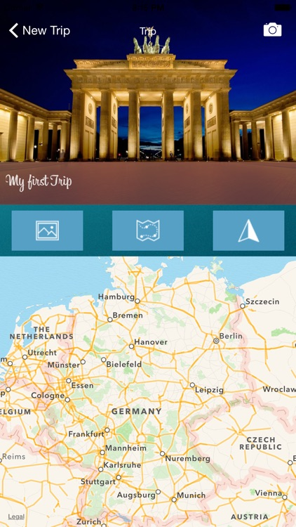 trip journal app by esprit