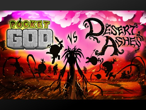Pocket God vs Desert Ashes ipad images