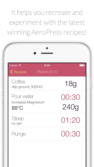 AeroPress Recipes and Timer app image