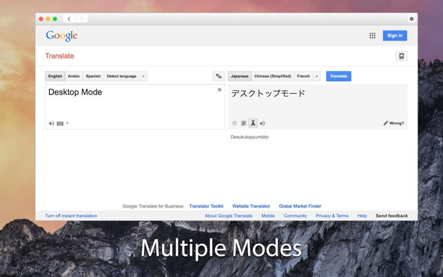 Translate web pages in Chrome