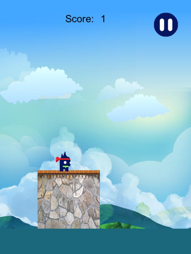 Blue Ninja Run Free, game for IOS