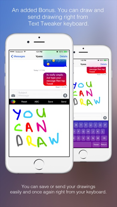 Text Tweaker Keyboard Free - Create Cool Color Message Bubbles with fancy fonts, emoji and theme maker
