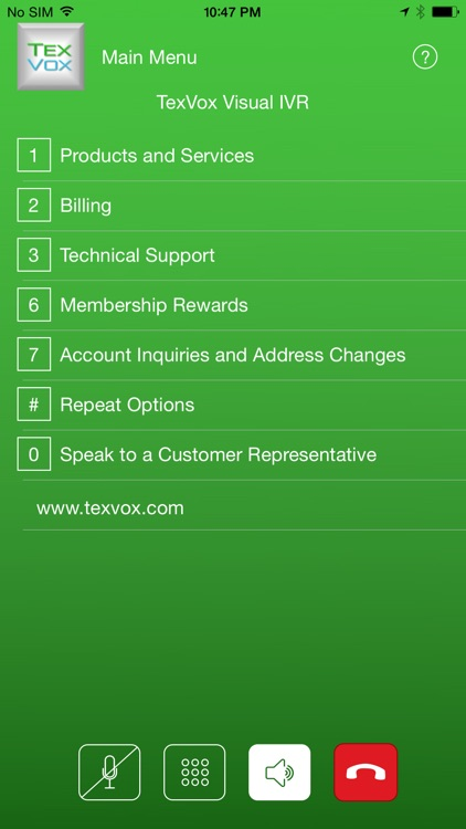 TexVox – Visual Interactive Voice Response (IVR) screenshot-4