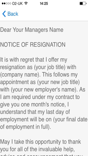 Resignation Letter Sample  Templates And Examples Of Job