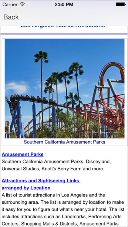 Attractions Los Angeles screenshot-2