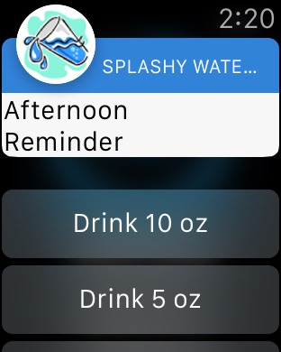 Splashy Water Tracker - Drink more water, Track daily water intake, Get hydration reminder Screenshot