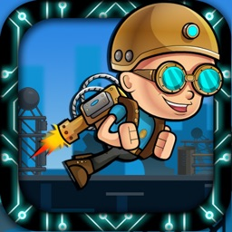 Jet-pack Hero Kid Space Station War